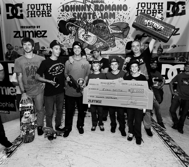 Entertainment Evan Smith also won the Zumiez Destroyer award. The DC Skate team came up to accept it the award on his behalf.