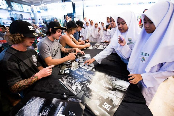 Entertainment DC BMX Autograph signing at the DC store in KL.