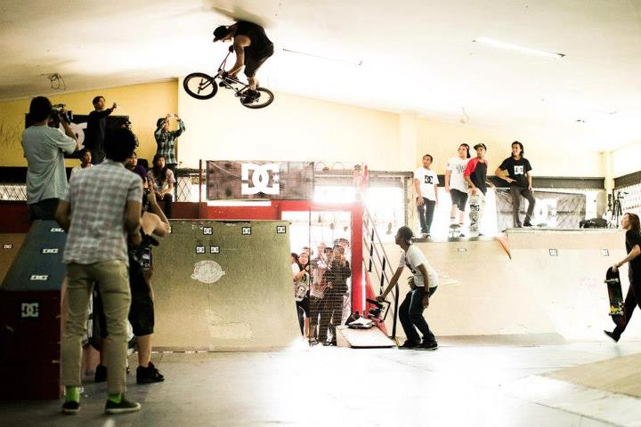 BMX Looks like they needed a bit more room. Dylan Stark hitting the ceiling.