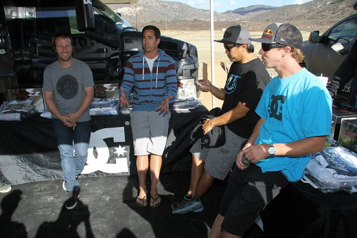 Entertainment Group meeting before the ride day began. A select group of editors were invited to the ride day to interview Robbie Maddison, Jeremy McGrath and Nate Adams Fan Page about the new gear.