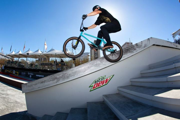 BMX Stevie Churchill is one of the most fun street riders to watch.
