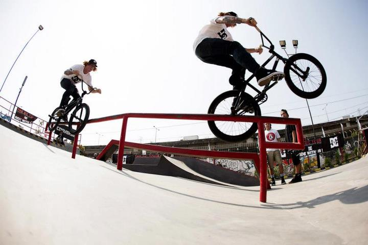 BMX Jeremiah Smith throwing down the combos.  Photo- Walter Pieringer