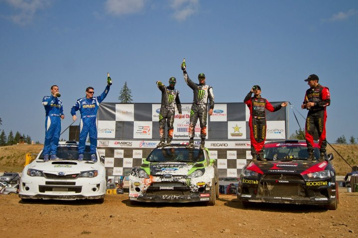 Motorsports Ken Block and Alex Gelsomino dominated this rally winning all but one stage.