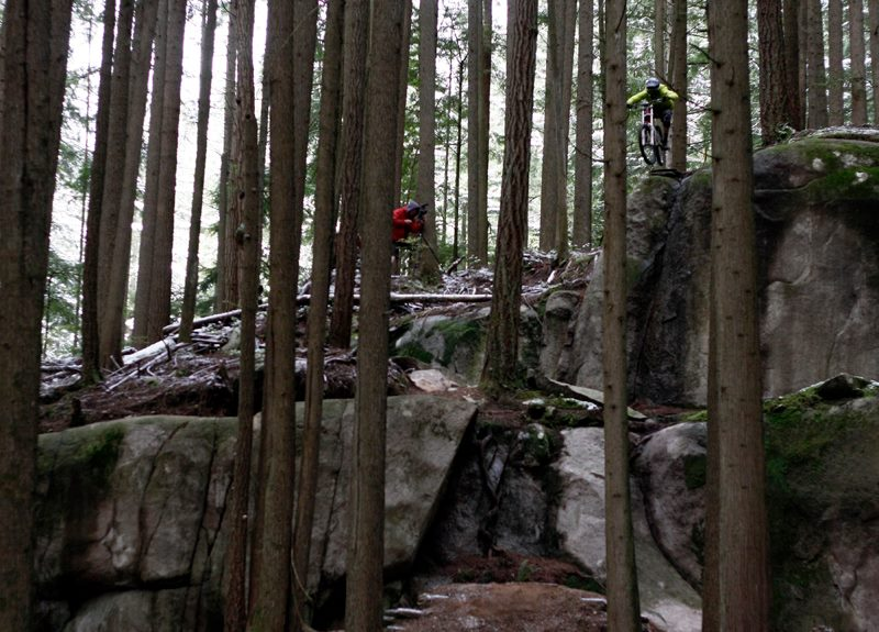 MTB Geoff Gulevich going huge off the Toonie Drop.
