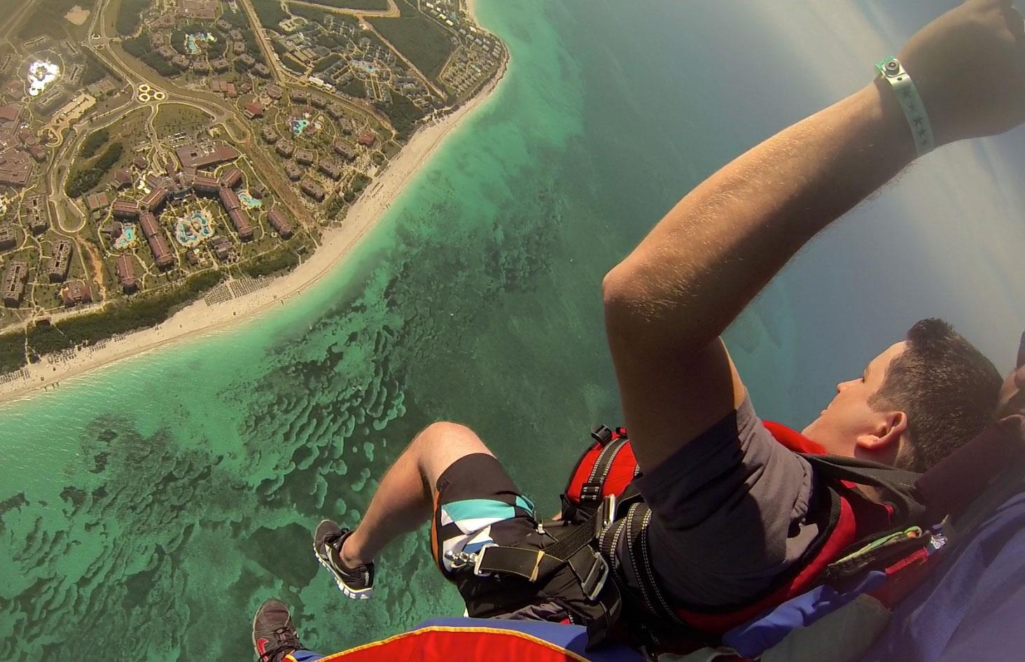 Extreme Skydiving in Varadero, Cuba