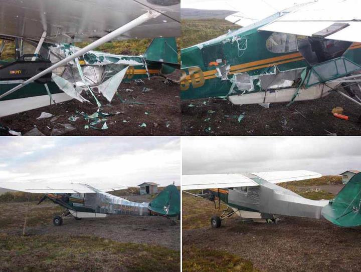 "Hunting 'LIKE' if you think Duct tape is awesome!  During a private ""fly-in"" fishing excursion in the Alaskan wilderness, a chartered pilot and fishermen left a cooler and bait in the plane. And a bear smelled it. The top 2 photos show what the bear did to the pl"