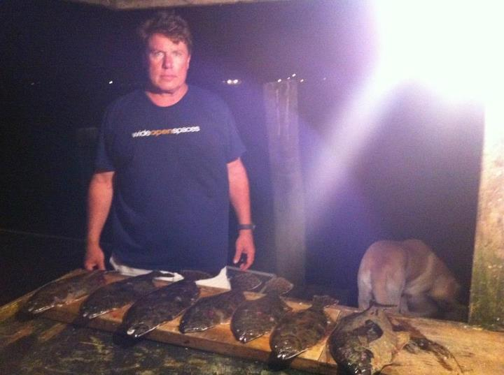 Fishing WOS team member Scott Calvin and his Flounder fresh from the Galveston Bay.