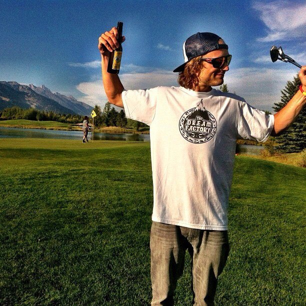 Golf Dana Flahr swinging in the Tetons at the 2012 TGR Tee Off Invitational. The world premiere of The Dream Factory is tonight in Jackson Hole! http://instagr.am/p/PmiChXFstT/