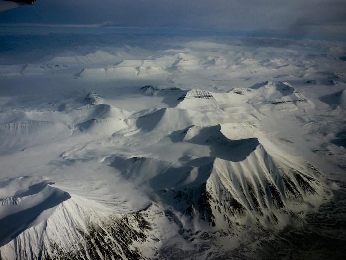 Snowboard Aerial view of Norway's Arctic Circle. Photo: Jeremy Jones