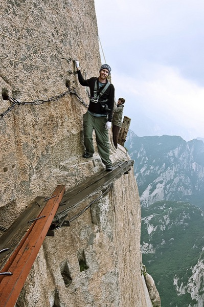 Camp and Hike The Plank Walk, the most famous, and dangerous, trek on Mount Hua