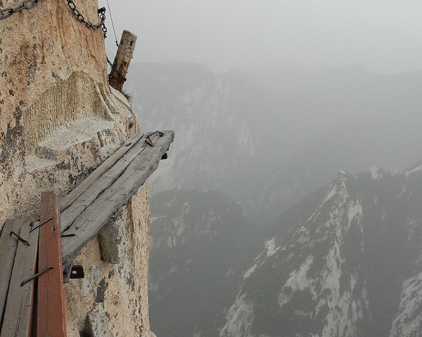 Camp and Hike The five peaks of Mount Hua have been vertical sanctuaries for monks, hermits, and spiritual seekers, especially Taoists, for centuries but the trek is dangerous.