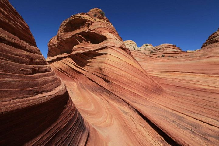 "Camp and Hike 1st Place Winner: ""The Wave, Coyote Buttes North"" by Chihiro Kikuchi. The Wave is a sandstone rock formation in northern Arizona on the slopes of the Coyote Buttes, near the Utah border."