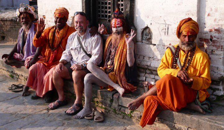 Entertainment Last year's Ultimate Outsider, Steve H. just hanging out in Kathmandu with some Hindu shaman! Our next Ultimate Outsider contest is coming soon and you could win the trip of a lifetime so stay tuned!