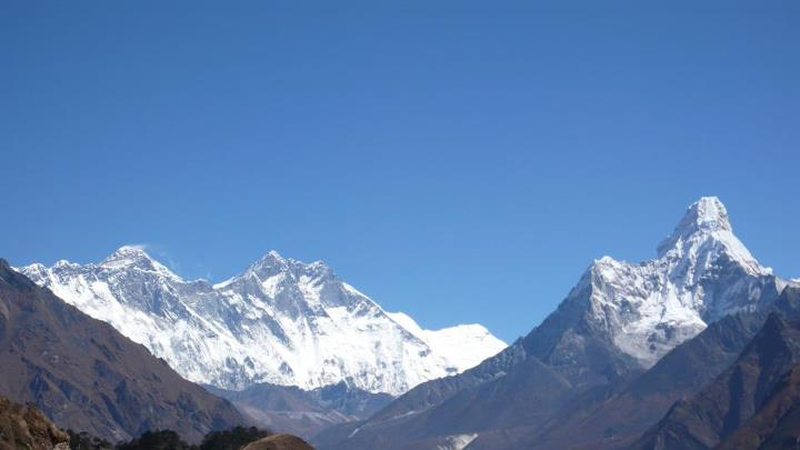 Camp and Hike Rest day in Namche Bazaar - View from Everest View Lodge