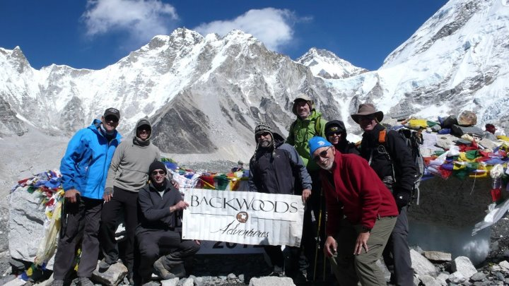 Camp and Hike Backwoods Adventures crew at Mt. Everest Base Camp!