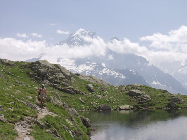 Camp and Hike Backwoods Adventure: Mont Blanc Circuit  http://www.backwoods.com/adventures/trips/mont-blanc-circuit/