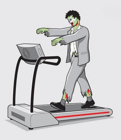Fitness Even the living dead enjoy walks on a treadmill - and the zombie treadmill of choice is the Sole Fitness range!