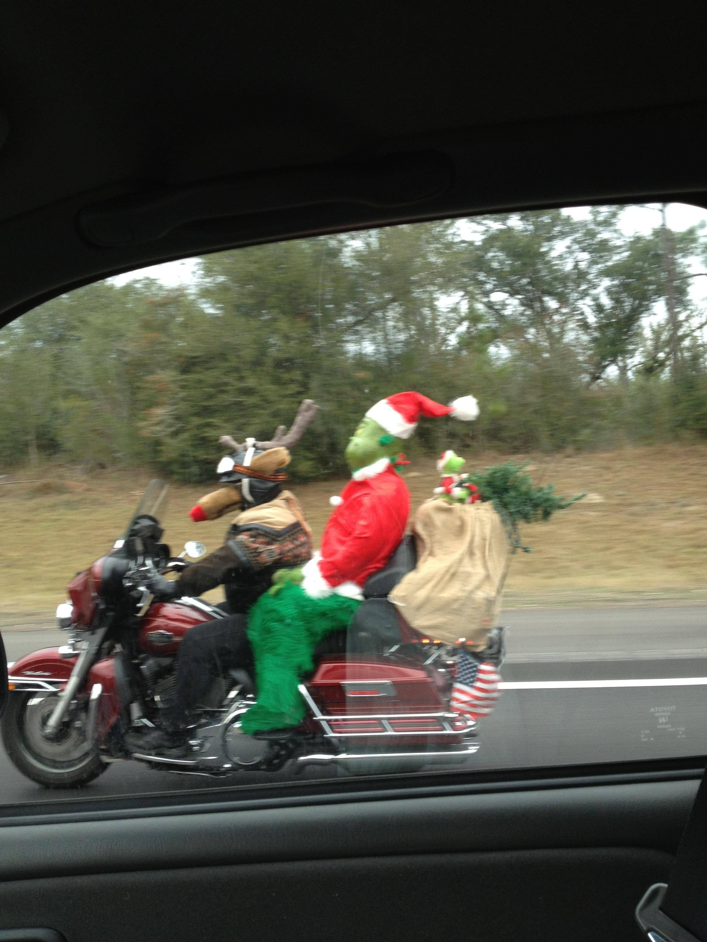 Auto and Cycle Driving down the interstate when suddenly...