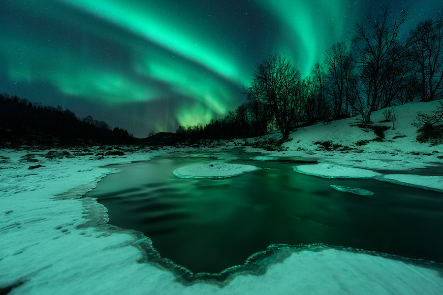 Camp and Hike Photograph River Lights by Arild Heitmann