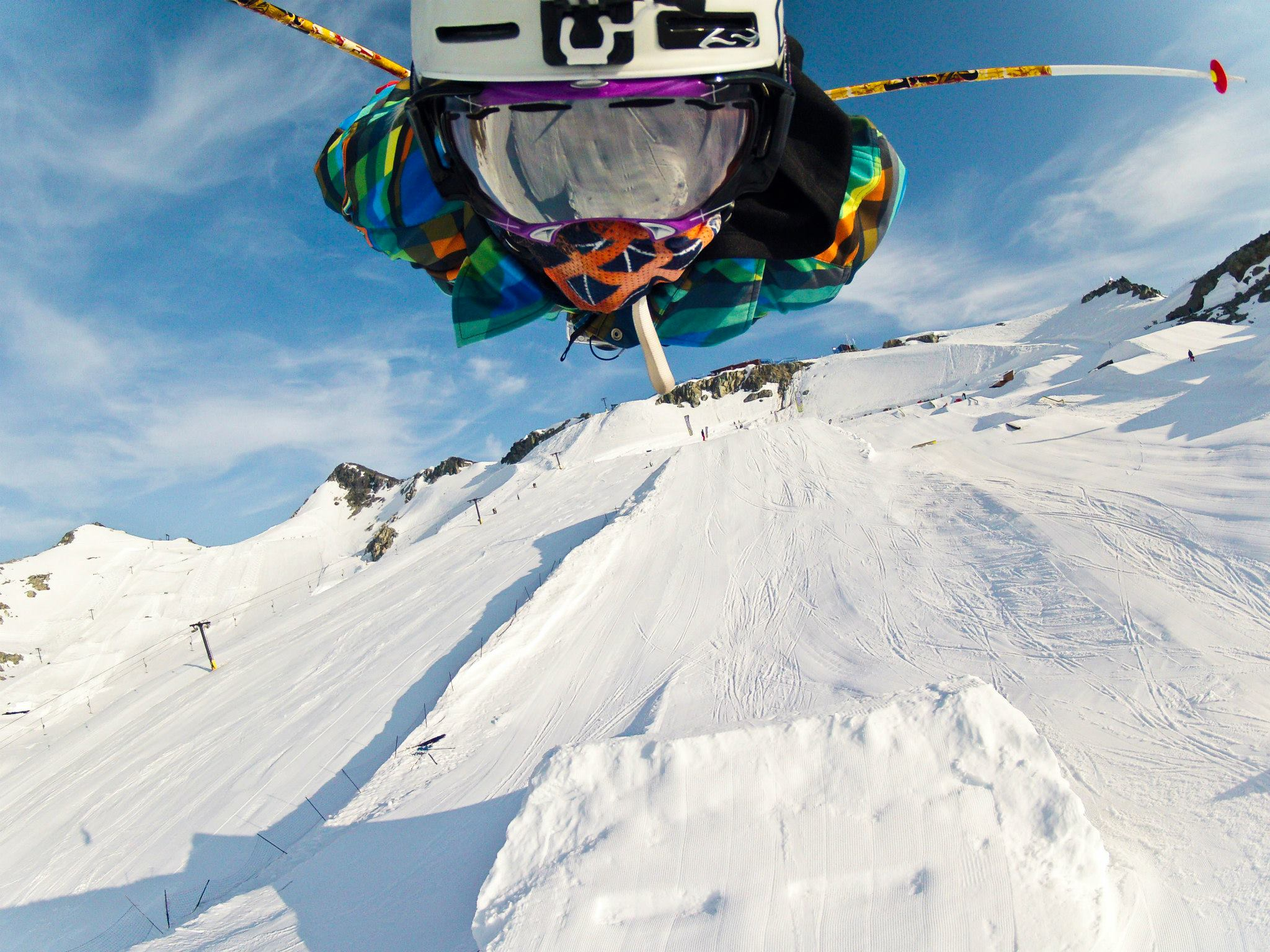Ski GoPro Media team member Caleb Farro gets his Superman on!