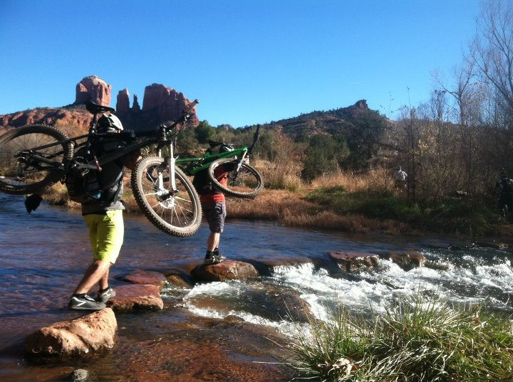 MTB Keeping it upright in Sedona for our bike test roundup.