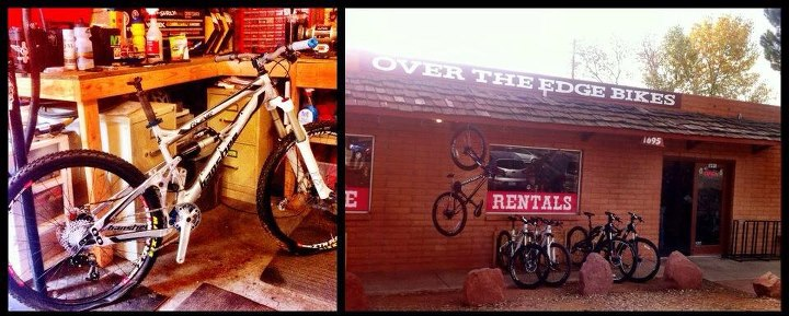 Entertainment Our Banshee Rune 650B test bike getting built by the crew at Over The Edge bike shop in Sedona. Cane Creek DBair and an X-Fusion Vengeance = trail ripper.