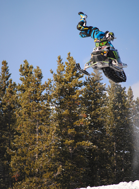 Snowmobile Monster Energy Snowmobile Freestyle Exhibition