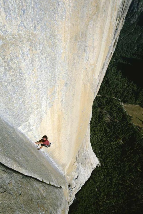 Climbing Wall climb, Yosemite Valley, Yosemite National Park, in California
