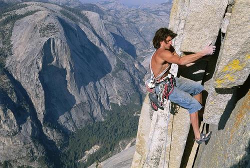 DEAN POTTER on Half Dome, Yosemite - Thrill On