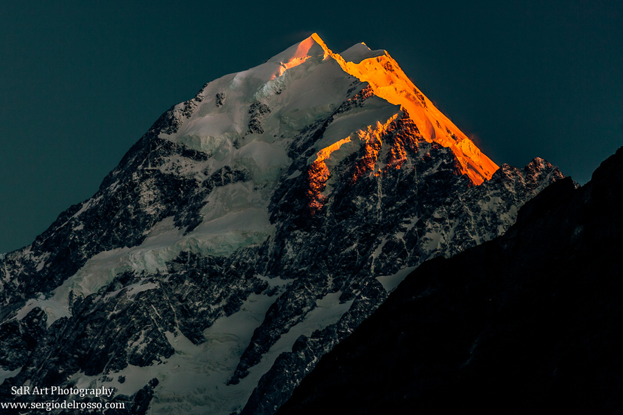 Climbing Photograph First light on mnt Cook by Sergio Del Rosso