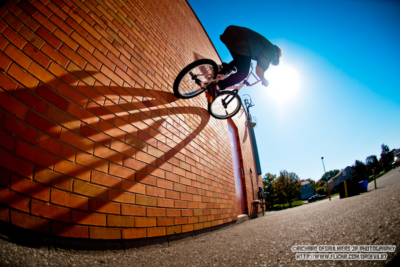 BMX Soaking up the sun by Richard Desaulniers Jr