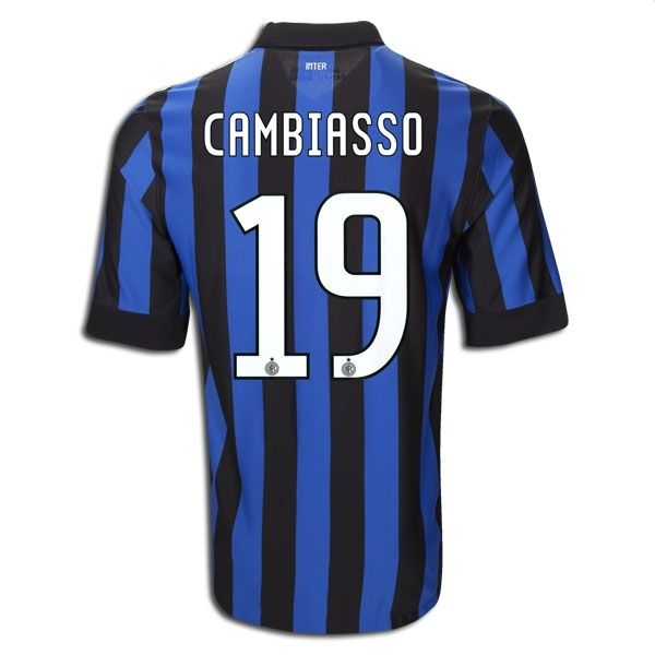 Entertainment CAMBIASSO Inter Milan Home Soccer Jersey 2011/2012