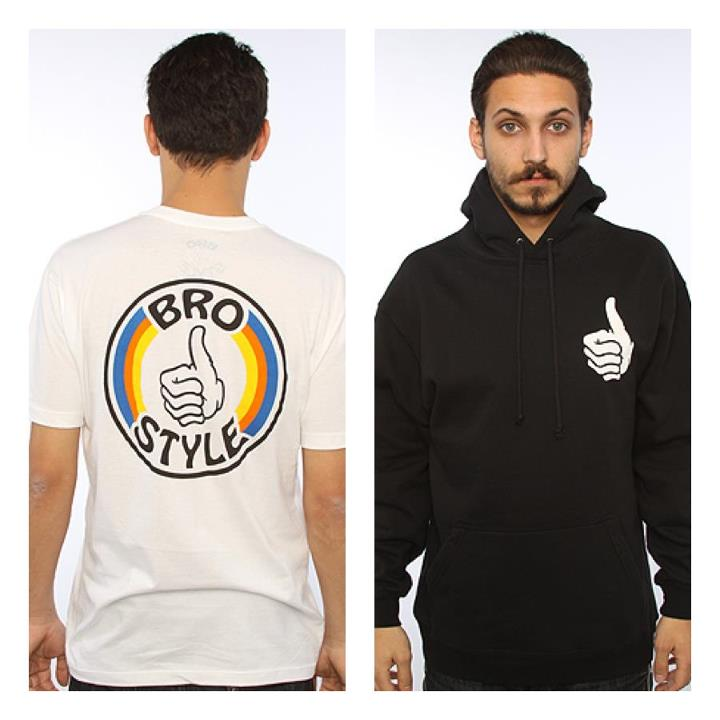 Skateboard Thumbs up for Bro Style! Just got it in stock. Now you can let everyone know how hyped you are with a giant thumbs up on your chest!