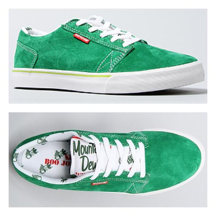 Skateboard You may have heard some rumblings about the Boo Johnson x Supra Footwear x Mountain Dew shoe. Well its here, and we are the only place online to get them! They are going EXTREMELY fast so jump on it while its here.