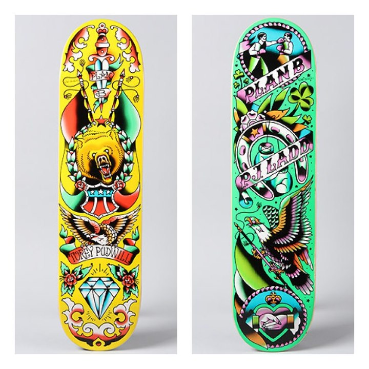 Skateboard Got some brand new PlanB goods in stock. These must look pretty awesome flipping under your feet.