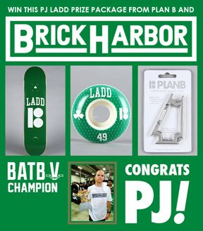 Skateboard To celebrate team rider PJ Ladd crushing it at Battle of the Berrics, we want to give away a dope package from Plan B Skateboards. Just like before, once we reach 2,750 likes we will be picking a winner and random. Get sharing! No one is getting this sick