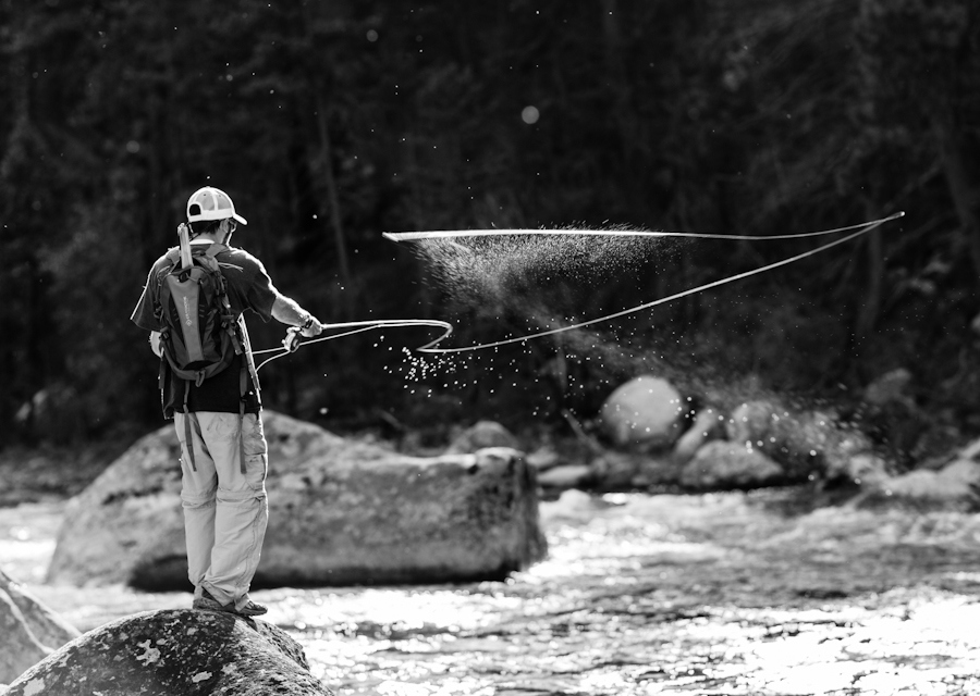 Flyfishing fly fishing on up Rock Creek. Montana