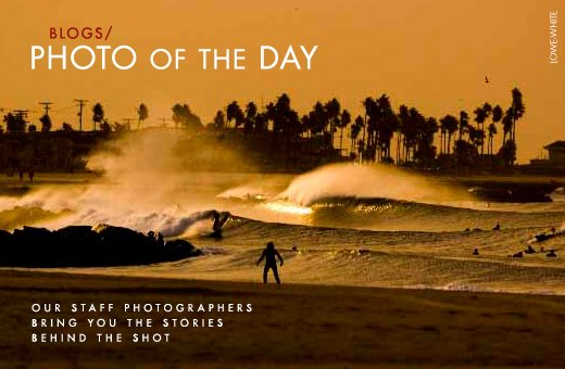 "Surf ""As 16 wildfires raged throughout the state of California, a 4 – 6 ft combo swell and 30 mph Santa Ana winds collided,"" says Bryce Lowe-White. http://bit.ly/kKOOwg"