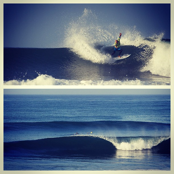 Surf Fifteen minutes away from the start of Round 5. Photos: @grantellis1 #hurleypro #surferphotos #surfer @kellyslater http://instagr.am/p/PzQsOPrrTH/