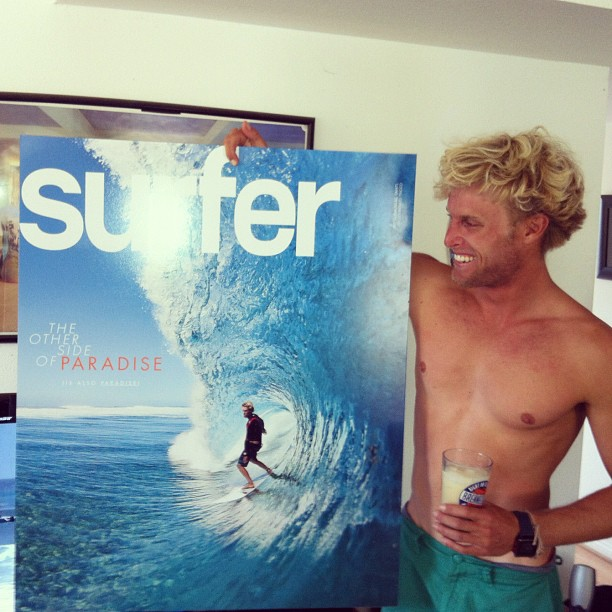 Surf Just surprised @patrickgud (Pat Gudauskas) with his July cover. #surferphotos http://instagr.am/p/KQ-8MqLrRM/