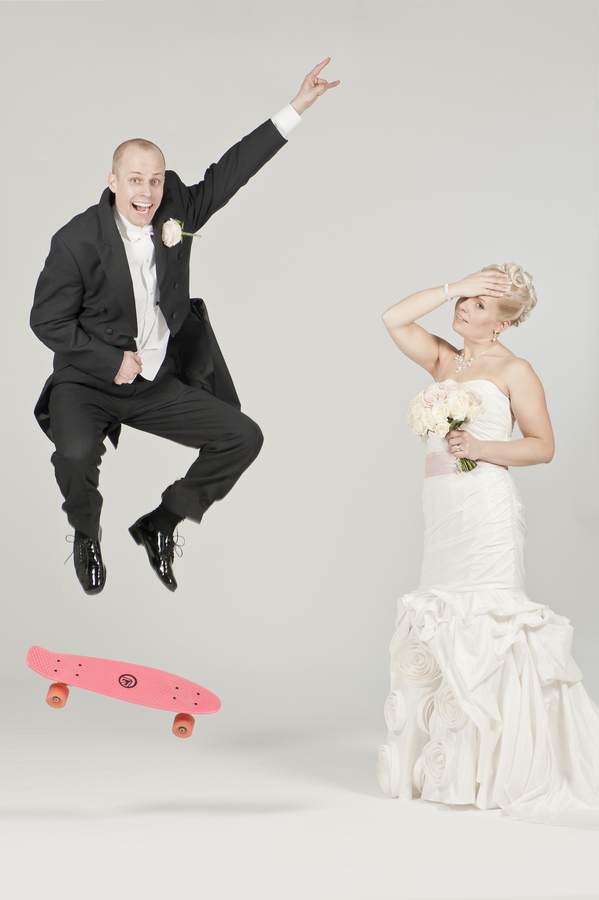 Skateboard Ultimate Wedding Portrait