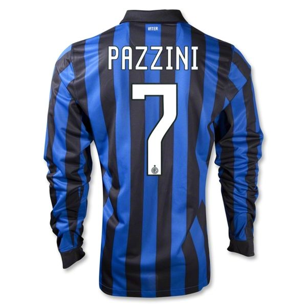 Entertainment Mens PAZZINI Inter Milan Home Long Sleeve Soccer Jersey 11/12