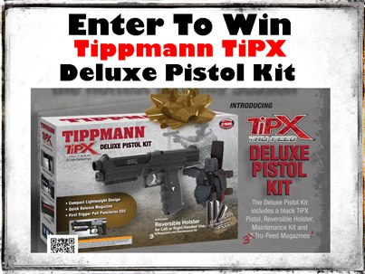 Entertainment http://bit.ly/WinATiPX > >Today is the last day you can enter to win the hottest gift in paintball. Go to Ultimate Paintball and you could win the new Deluxe TiPX Pistol kit. Use the link provided or just go to their page and hit the tab marked WIN! As an