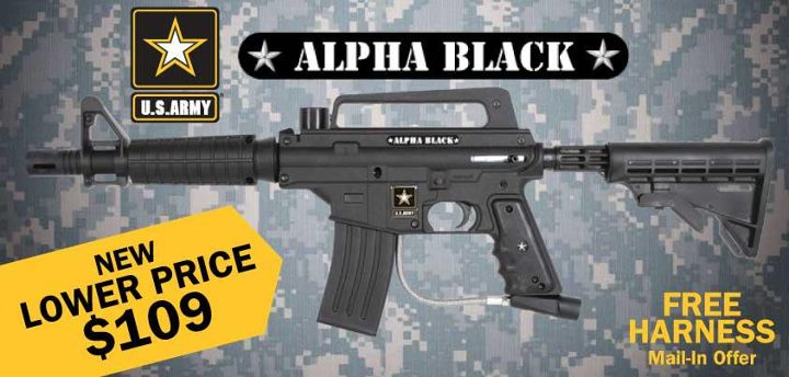Entertainment http://bit.ly/AlphaBlackTactical >> Just in time for the holiday season, Tippmann is lowering all prices on the U.S. Army Alpha Black line of markers including the tactical version, camo version, e-grip and the power pack.  Order these markers from our on