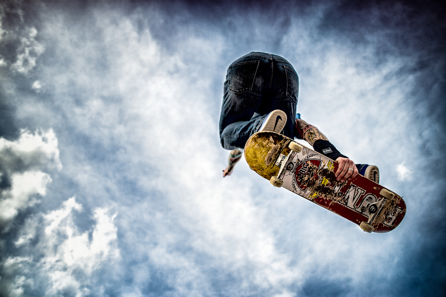 Skateboard Photograph IN THE AIR by Brian Sullivan on 500px