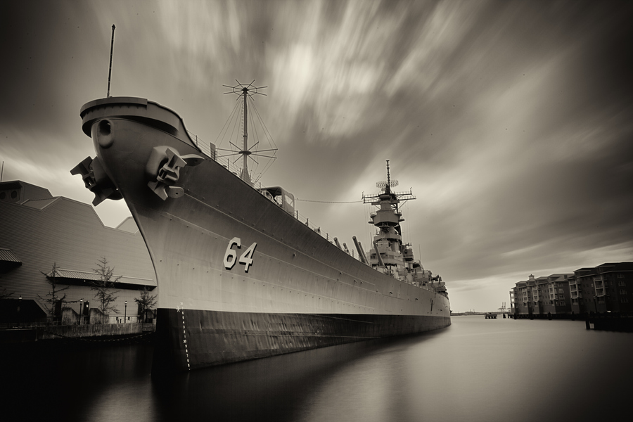 Guns and Military USS Wisconsin at Norfolk, Virginia had almost 50 years of service from 1944 to 1991