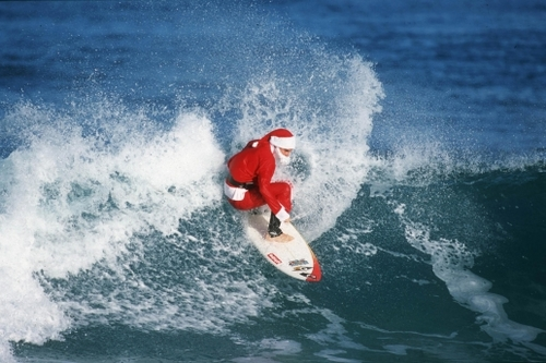 Surf surfer santa