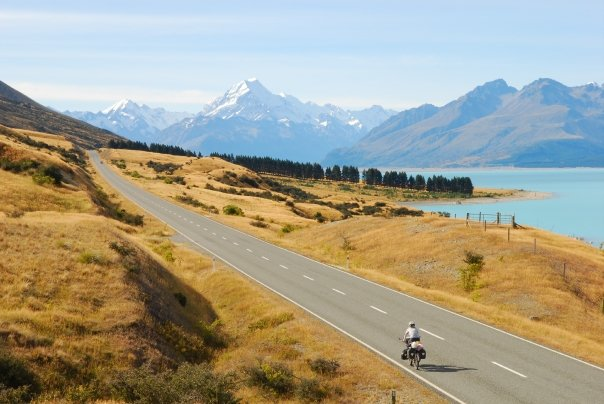 On the way to Mont Cook in New-Zealand