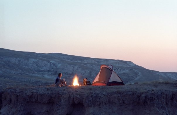 Camp and Hike Campfire in Turkey