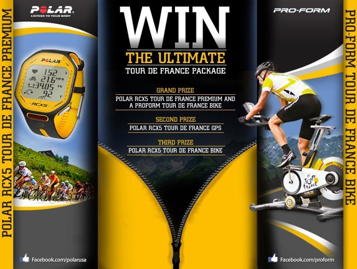 Entertainment Have you checked out our contest with Polar USA? We're giving away a Tour de France Package! Enter here http://on.fb.me/Pdm1Ji